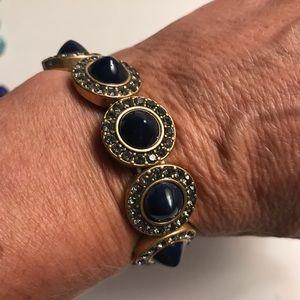 J. Crew Jewelry - JCrew navy rhinestone bracelet